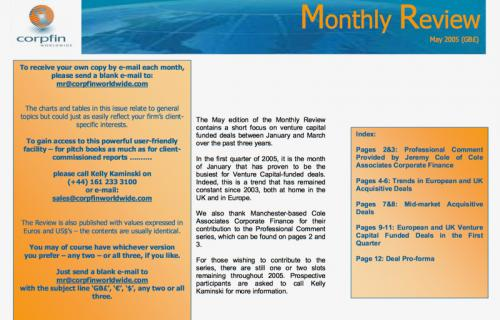 Corpfin - Monthly Review